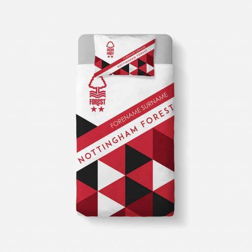 Nottingham Forest FC Patterned Duvet Cover & Pillowcase