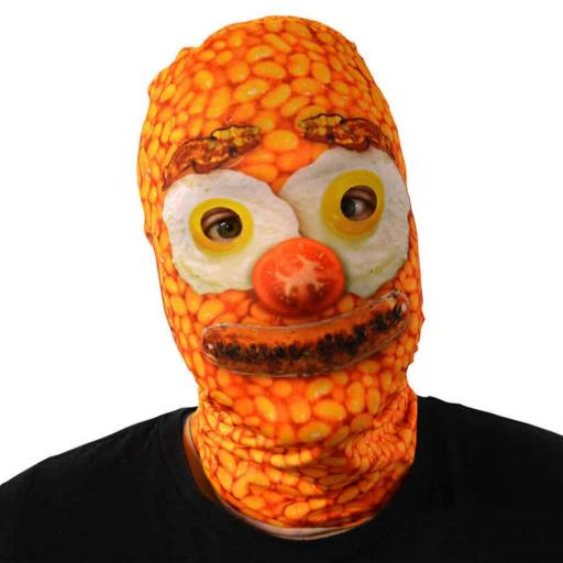 Fry Up Face Mask - Light Weight- Breathable- Great For Halloween & Parties
