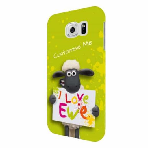 Shaun The Sheep Valentines Print Samsung Galaxy S6 Clip Case