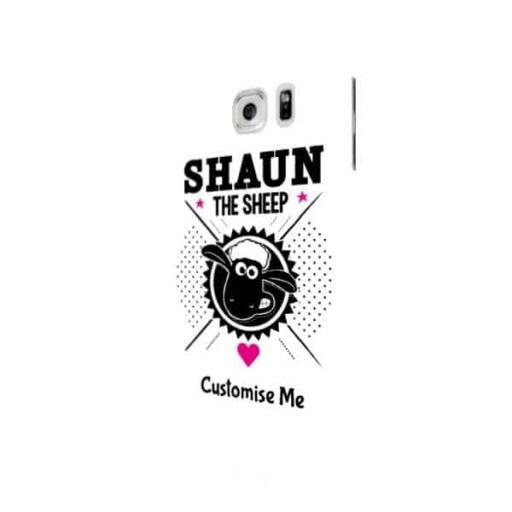 Shaun The Sheep Black & White Samsung Galaxy S7 Edge Clip Case