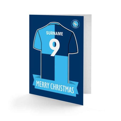 Wycombe Wanderers Shirt Christmas Card