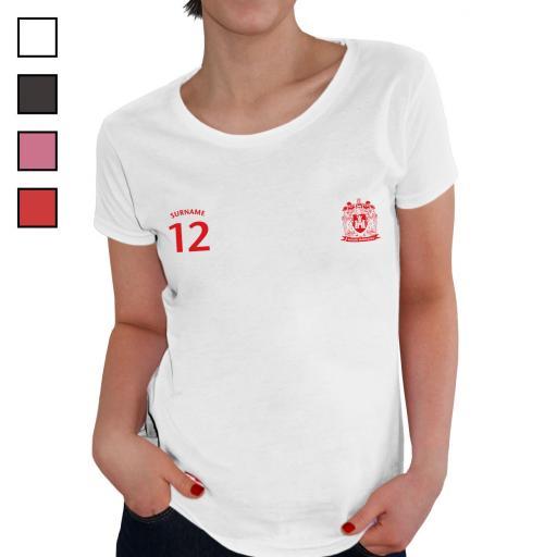 Wigan Warriors Ladies Sports T-Shirt