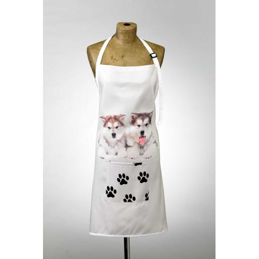 Malamute Image Apron Poly-Cotton Machine Washable