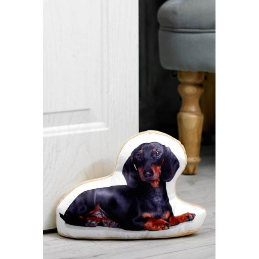 Attention Dachshund Lovers-Vivid Image Dachshund Shaped Doorstop