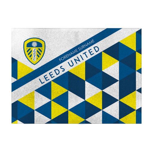 Leeds United FC Patterned Blanket (100cm X 75cm)