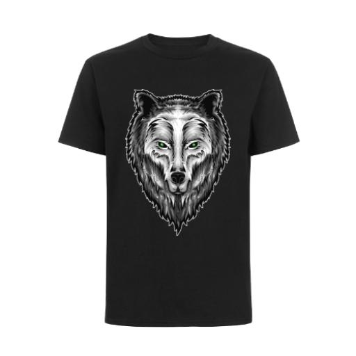 Guardian Spirit Wolf Fantasy Style Design T-Shirt