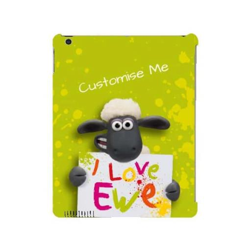 Aardman Shaun The Sheep Valentines Print iPad 2/3/4 Clip Case