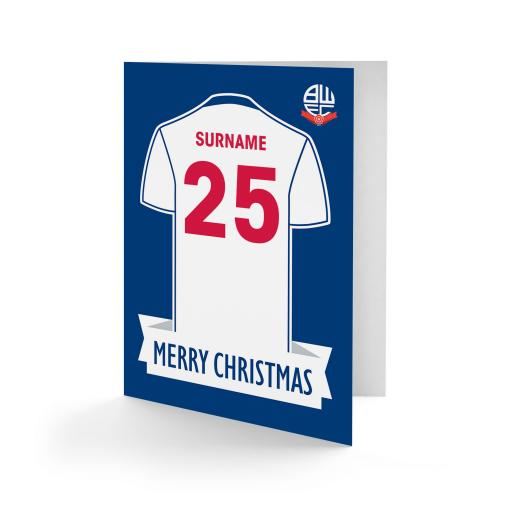 Bolton Wanderers FC Shirt Christmas Card