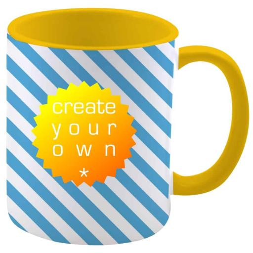 Create Your OwnMug - Two Tone Yellow - Ceramic - 11oz
