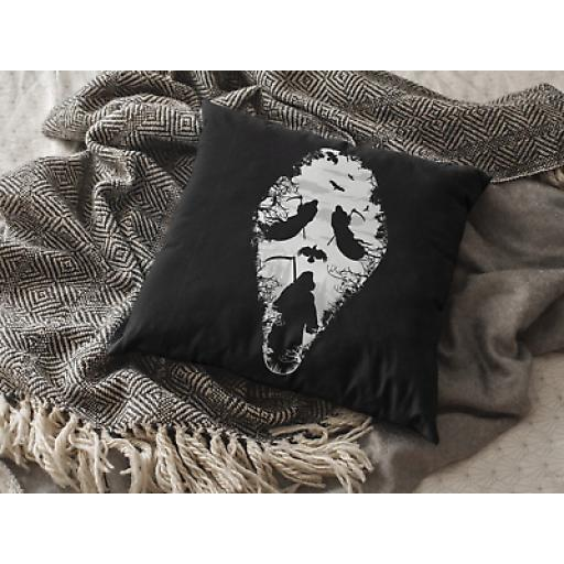Reaper Scream Cushion Cover - Decorative Linen - Cult Horror Movie Fan Gift