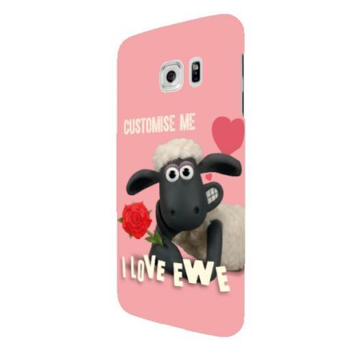 Shaun The Sheep Valentines 'I Love Ewe' Samsung Galaxy S7 Edge Clip Case