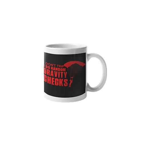 I Do Random Gravity Checks 11 oz Mug Ceramic Novelty Design Parachutist Gift