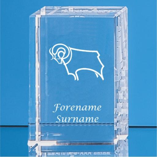 Derby County Crystal Rectangle