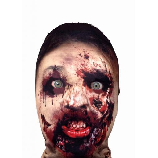 Zombie Mask - Light Weight- Breathable- Ideal For Halloween Parties - Female