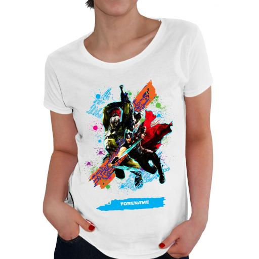 Marvel Thor Ragnarok Colour Splash Ladies T-Shirt