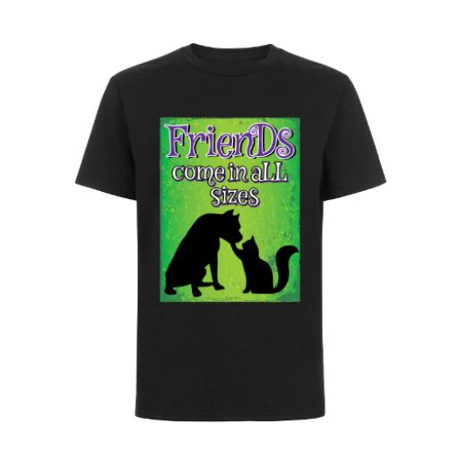 Friends Come In All Sizes Dog Cat T-Shirt
