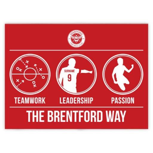 Brentford FC Way Blanket (150cm x 110cm)