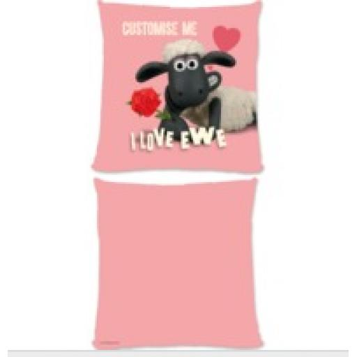 Aardman Shaun The Sheep Valentines 'I Love Ewe' Large Cushion