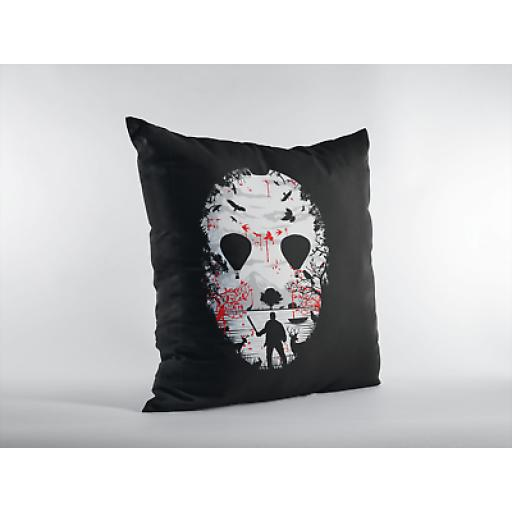 Camp Crystal Lake Themed Cushion Cover - Decorative Linen - Friday 13th Gift