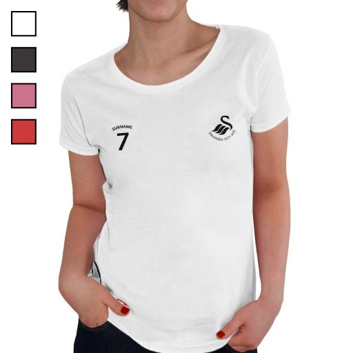 Swansea City AFC Ladies Sports T-Shirt