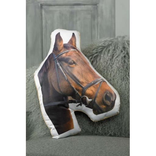 Brown Horse Shaped Cushion Perfect Gift For Horse Lovers