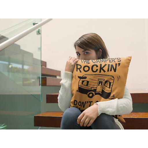 Rock In Camper Don't Come Knockin Cushion Cover - Party Innuendo Camper Gift