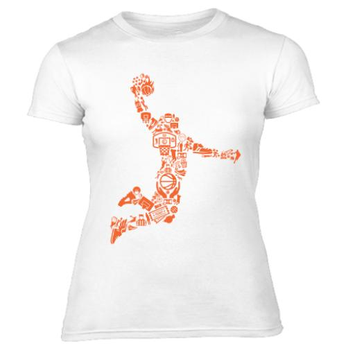 Slam Dunk Silhouette Graphic Women's T-Shirt
