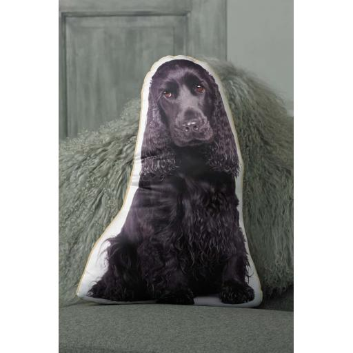 Black Cocker Spaniel Shaped Cushion Perfect Gift For Dog Lovers