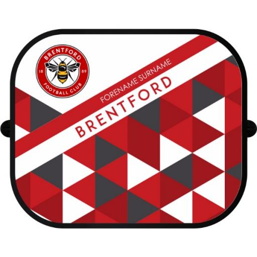 Brentford FC Patterned Car Sunshade