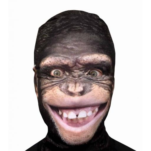 Happy Monkey Mask - Light Weight- Breathable- Great For Halloween & Parties