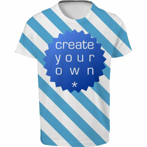 Create Your Own-T-Shirt - 100% Polyester - Single Sided Full Colour - Age 7-8 Years Kids