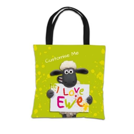 Aardman Shaun The Sheep Valentines Print Tote Bag