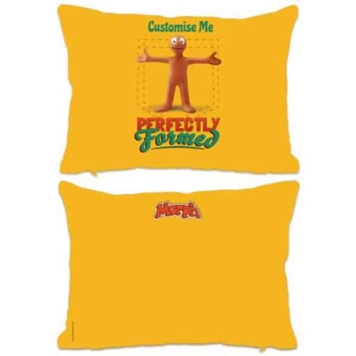 "Aardman Morph ""Perfectly Formed "" Print Extra Large Cushion"