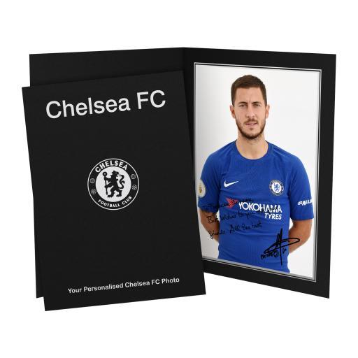 Chelsea FC Hazard Autograph Photo Folder