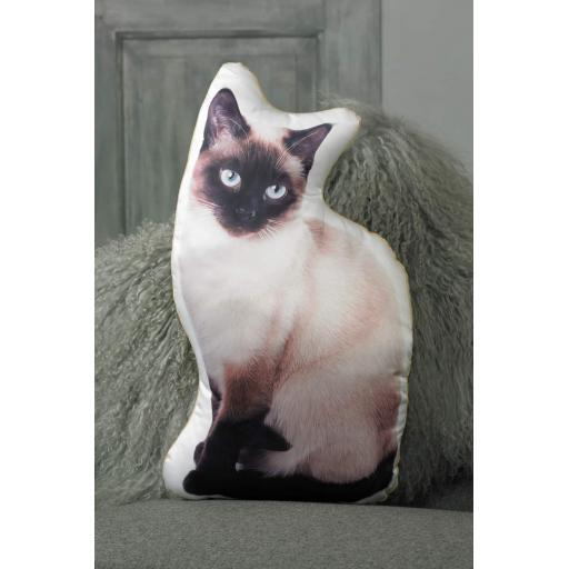 Siamese Cat Shaped Cushion Perfect Gift For Cat Lovers
