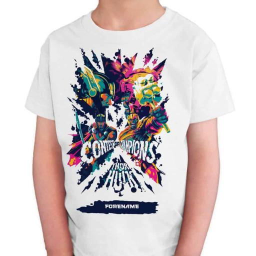 Marvel Thor Ragnarok Colour Badge Kids T-Shirt