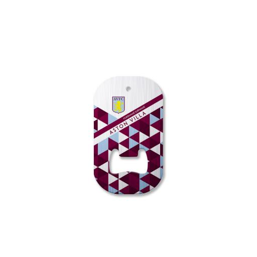Aston Villa FC Patterned Compact Bottle Opener