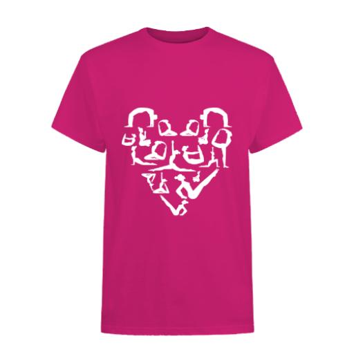 Yoga Heart-B&C Exact 150 T-Shirt