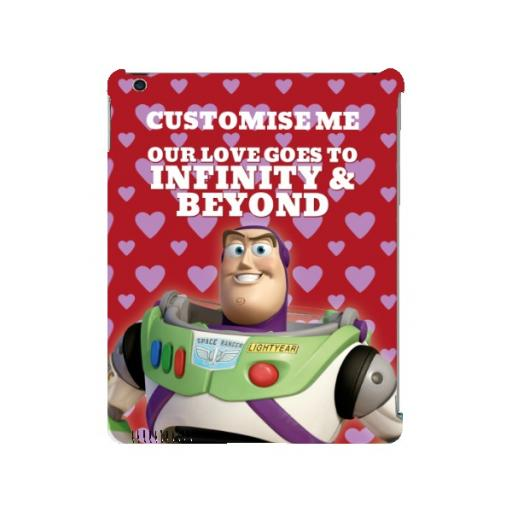"Disney Toy Story Buzz Valentines ""Infinity & Beyond"" iPad 2/3/4 Clip Case"
