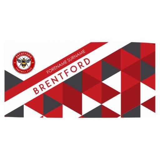 Brentford FC Patterned Travel Towel