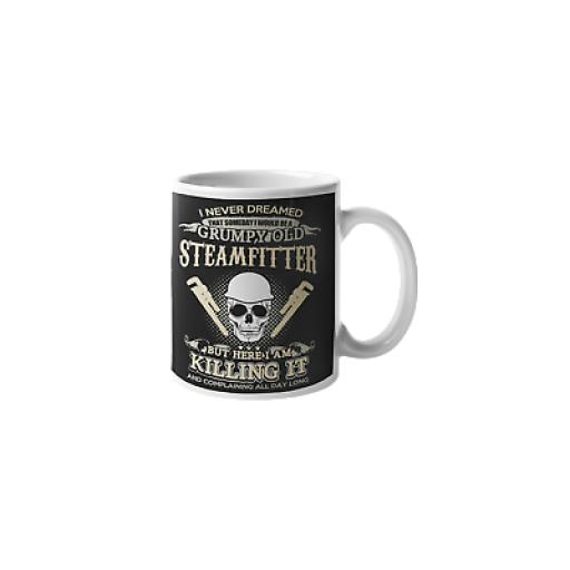 Grumpy Steamfitter 11 oz Mug Ceramic Novelty Gift For Plumbers or Pipefitters
