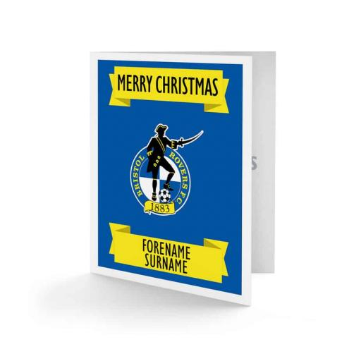 Bristol Rovers FC Crest Christmas Card