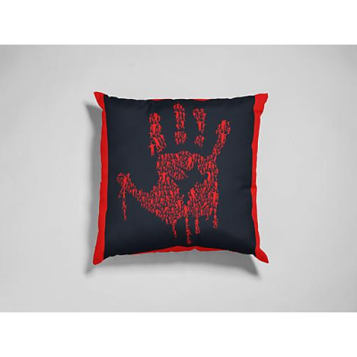 Hand Of Zombies Themed Cushion Cover - Smooth Linen - Zombies Movie Fan Gift