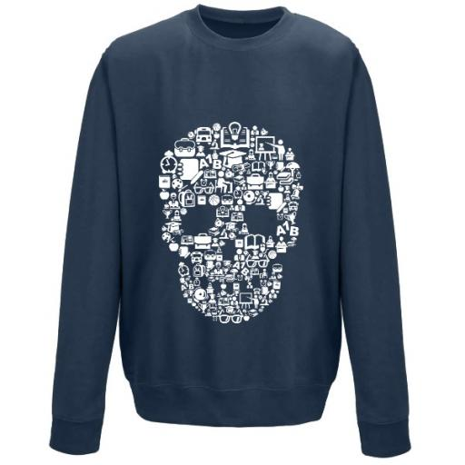 AWDis Sweatshirt School Skull Graphic