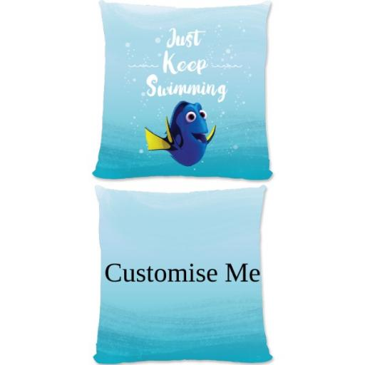 Disney Finding Dory 'Just Keep Swimming' Small Fiber Cushion