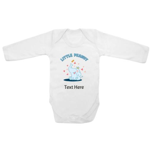 Little Peanut White Longsleeve Baby Grow