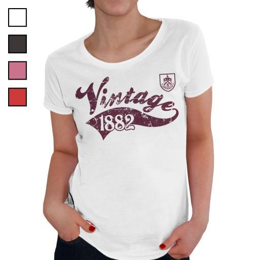 Burnley FC Ladies Vintage T-Shirt