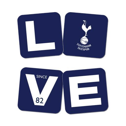 Tottenham Hotspur FC Love Coasters (x4)