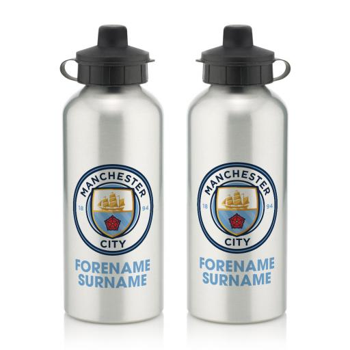 Manchester City FC Bold Crest Water Bottle