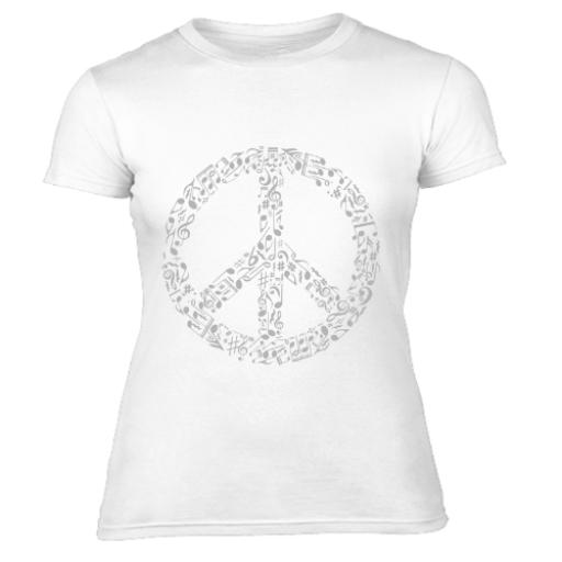 Peace Through Music Women's T-Shirt